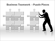 Business Teamwork PPT Diagrams & Charts