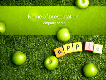 Apple Cubes PowerPoint Template