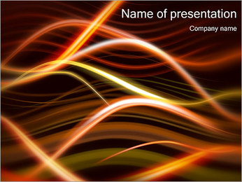 Light Waves Шаблоны презентаций PowerPoint