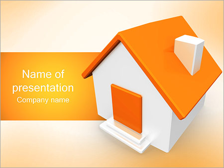 Orange house powerpoint template backgrounds google slides id orange house powerpoint template toneelgroepblik Image collections