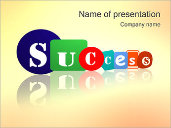 Success Word PowerPoint Template