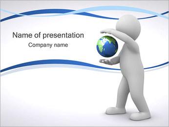 Pessoa com Globo Modelos de apresentações PowerPoint
