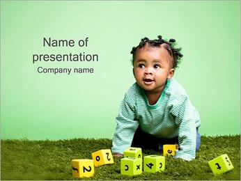 Baby met Cubes Sjablonen PowerPoint presentatie