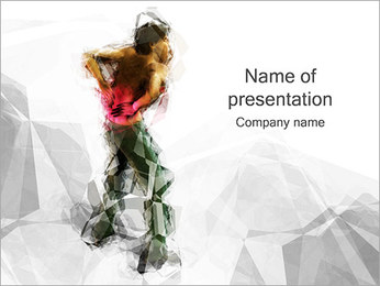 Man Holding Back PowerPoint Template