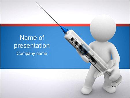 Personne tient la seringue Modèles des présentations  PowerPoint