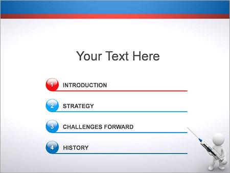 Persona tiene la jeringa Plantillas de Presentaciones PowerPoint - Diapositiva 3