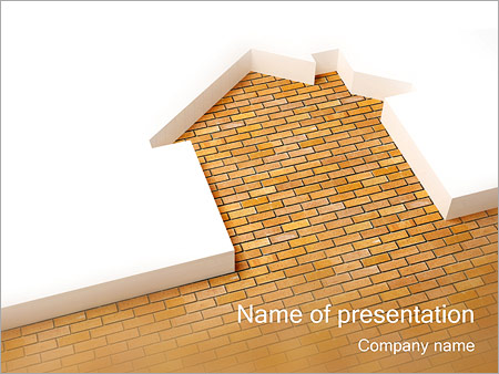 House bricks powerpoint template backgrounds id 0000001321 house bricks powerpoint templates toneelgroepblik Gallery
