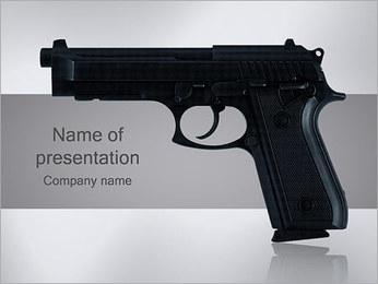 Pistol PowerPoint Template - Slide 1