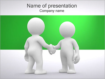 Persons and Handshake PowerPoint Template