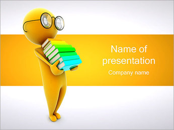 Person Holding Books PowerPoint Template