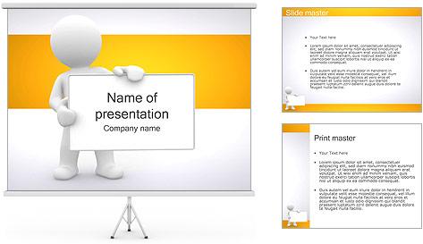 Pessoa e placa em branco Modelos de apresentações PowerPoint
