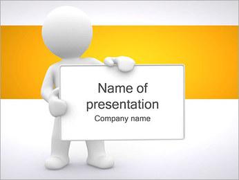 Pessoa e placa em branco Modelos de apresentações PowerPoint - Slide 1