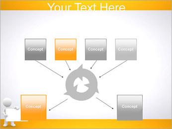 Pessoa e placa em branco Modelos de apresentações PowerPoint - Slide 10