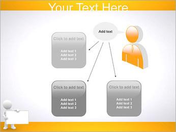 Pessoa e placa em branco Modelos de apresentações PowerPoint - Slide 12