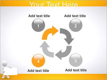 Pessoa e placa em branco Modelos de apresentações PowerPoint - Slide 14