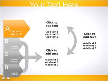Pessoa e placa em branco Modelos de apresentações PowerPoint - Slide 16