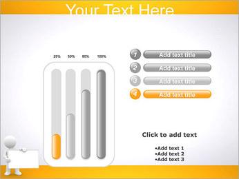 Pessoa e placa em branco Modelos de apresentações PowerPoint - Slide 18
