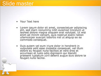 Pessoa e placa em branco Modelos de apresentações PowerPoint - Slide 2