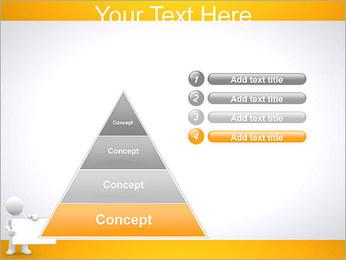 Pessoa e placa em branco Modelos de apresentações PowerPoint - Slide 22