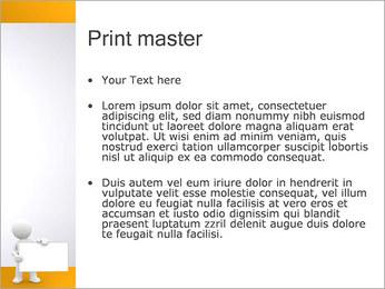 Pessoa e placa em branco Modelos de apresentações PowerPoint - Slide 24