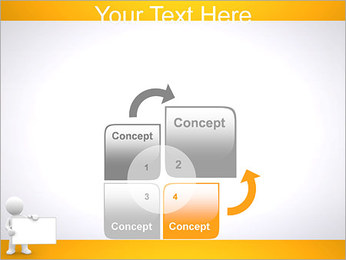 Pessoa e placa em branco Modelos de apresentações PowerPoint - Slide 5