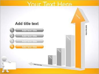 Pessoa e placa em branco Modelos de apresentações PowerPoint - Slide 6