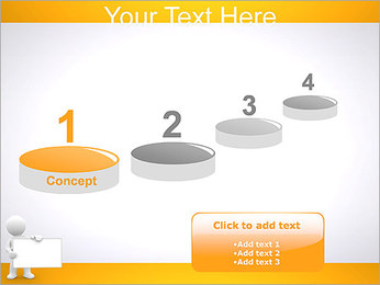Pessoa e placa em branco Modelos de apresentações PowerPoint - Slide 7