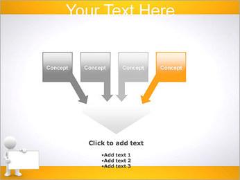 Pessoa e placa em branco Modelos de apresentações PowerPoint - Slide 8