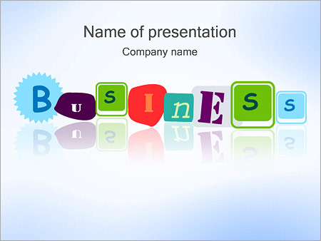 Business Word PowerPoint Template