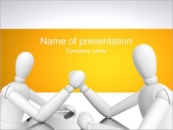3d Arm Wrestling PowerPoint Template