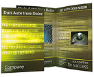 Shine Binary Code Brochure Templates