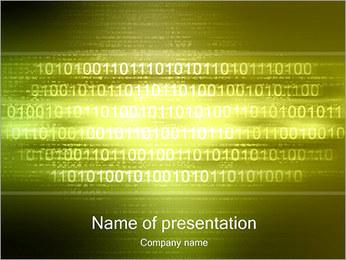 Shine Binary Code PowerPoint Template