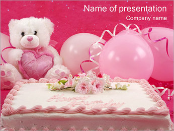 Birthday Cake PowerPoint Template