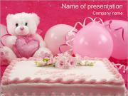 Torta de cumpleaños Plantillas de Presentaciones PowerPoint