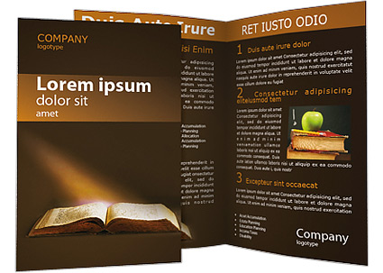 Old Book Brochure Template Design ID SmileTemplatescom - Flyer brochure templates