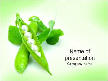 Pois frais Modèles des présentations  PowerPoint - Diapositives 1