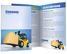 Forklift wit Box Brochure Templates