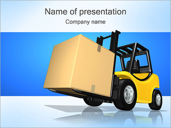 Forklift wit Box PowerPoint Template