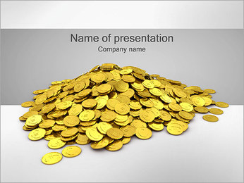 Złote Monety Szablony prezentacji PowerPoint
