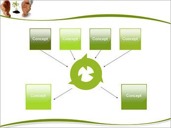 Les mains et les plantes Modèles des présentations  PowerPoint - Diapositives 10