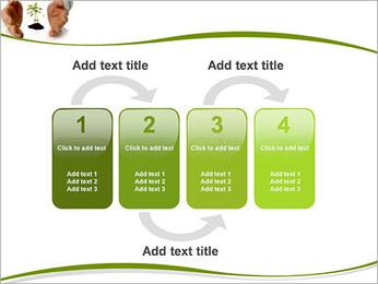 Les mains et les plantes Modèles des présentations  PowerPoint - Diapositives 11