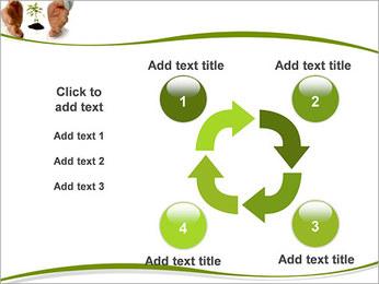 Les mains et les plantes Modèles des présentations  PowerPoint - Diapositives 14