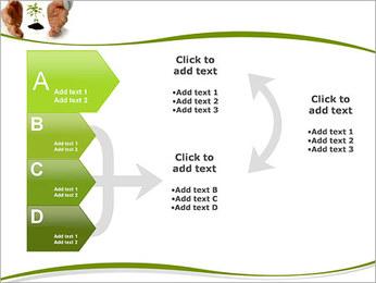 Les mains et les plantes Modèles des présentations  PowerPoint - Diapositives 16