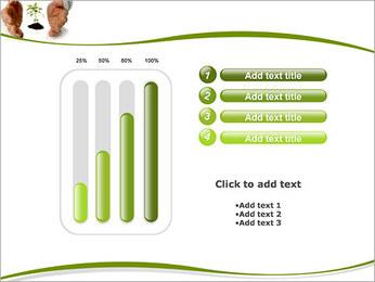 Les mains et les plantes Modèles des présentations  PowerPoint - Diapositives 18