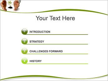 Les mains et les plantes Modèles des présentations  PowerPoint - Diapositives 3