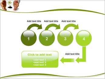 Les mains et les plantes Modèles des présentations  PowerPoint - Diapositives 4