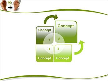 Les mains et les plantes Modèles des présentations  PowerPoint - Diapositives 5