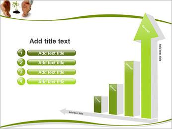 Les mains et les plantes Modèles des présentations  PowerPoint - Diapositives 6