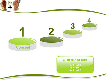 Les mains et les plantes Modèles des présentations  PowerPoint - Diapositives 7