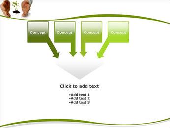 Les mains et les plantes Modèles des présentations  PowerPoint - Diapositives 8
